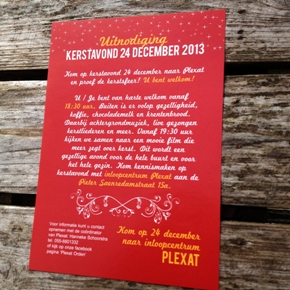 flyer kerstavond plexat . grafische vormgeving