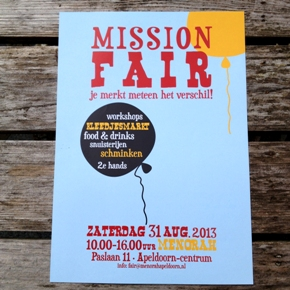 flyer mission fair . grafische vormgeving